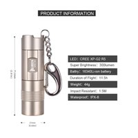 Discount micro led keychain - Wuben Mini Rechargeable Flashlight CREE LED keychain Torch Small Necklace Lamp include Battery With Micro USB port Waterproof IP68 E345-E347