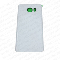 Wholesale Door Edges - 100PCS Original Battery Door Back Housing Cover Glass Cover for Samsung Galaxy S6 G920P S6 edge Plus G925P G928P Note 5 N920P with Adhesive