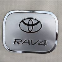 Wholesale Car Tank Cover - Toyota RAV4 2009-2012 Stainless Steel Car Auto Oil Fuel Tank Cover Decorative Trim Car Styling Fuel Tank Cap Decorative Cover AT3026