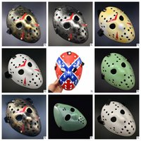Wholesale Archaistic Jason Mask Full Face Antique Killer Mask Jason VS Friday The th Prop Horror Hockey Halloween Cosplay Party Mask CCA6785