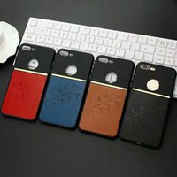 Wholesale Iphone Dual Color Case - fashion luxury official colorful dual color anti-shock geogorous PU Leather TPU case cover for iPhone 6 6 Plus iPhone 7 and 7 Plus