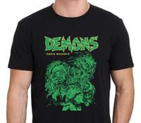 Wholesale Short Sleeve Shirt Office - T Shirt Print Men'S Short Demons Classic Dario Argento 80'S Horror Movie Drawing O-Neck Office Tee