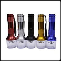 Wholesale Torch Shape Electric Automatic Grinder Electric Grinder Herb Grinders colorTobacco mm Aluminium Alloy OEM logo