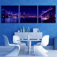 Wholesale Wholesale Poster Led Lights - Night-Light LED Flashing Effect Optical Fiber Print Canvas Print Poster Stretched LEDs Canvas Print Canvas Painting