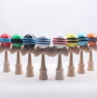 Wholesale Kendama Colors - Big Kendama Ball Japanese Traditional Wooden Toys Many Colors 18.5*6cm Education Gifts Novelty Toys 50PCS DHL free shipping