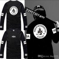 Wholesale Hba Mens Clothing - New t shirts for men long sleeve cotton t shirt HBA t shirt Classics tee shirt mens designer clothing