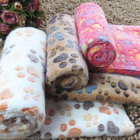 Hot Warm Mat Pet Dog Pequeño Grande Paw Print Fleece Soft Blanket Cojín Invierno Unique Design