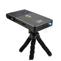 Wholesale Pocket Projector Battery - Mini Projector Portable Pocket DLP Wifi Bluetooth Projector DLNA Android OS 1G + 8G 16G ROM Built in 5000mAh Battery Home Cinema