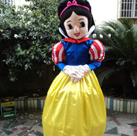 Wholesale Snow White Cartoon Character Costume - New style snow white mascot costume Character Fancy Dress beautiful princess Cartoon costume party fancy dress