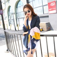 Wholesale Girls Patchwork Quilts - 2016 Time-limited Shawl, Wrap Pashmina Woman 2017the Original New Tassel Scarf South Korean Quilt Spring Summer Art Suntan Tourism Cape Girl