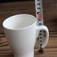 Wholesale Chinese Porcelain Mug - Wholesale- Chinese Creative Ceramic Coffee Mug White Caneca Copo Xicara Hot Cup Porcelain Copo Brief Eco-friendly Mug Cup Stocked QQB950