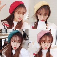 Wholesale Dragon Rain - New spring and Summer Sweet Maka Dragon Corduroy Painter Hat Pumpkin Women Retro Suede Octagonal Berets Hat