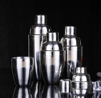 Wholesale Stainless Steel Wine Shaker - Stainless Steel Martini Cocktail Shaker Bar Tools Wine Shakers (250ml   350ml   530ml 750ml) c059