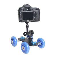 Wholesale Mini Dolly Camera - Universal Track Skater Table Mini Desktop Camera Rail Dolly Car For Canon Nikon Pentax Sony DSLR Camera