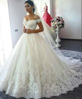 Wholesale 2017 Elegant Lace Wedding Dresses Ball Gowns Sweetheart off the Shoulder Luxurious Lace Country Vestido Branco vestidos de novia