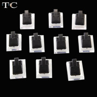 wholesale Jewelry Stand Tc Plastic Easter 15pcs lot Black Clear Ring Jewelry Display Clip Showcase Stand Holder 1.3x1 Inch