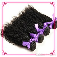 Wholesale 5a Grade Double Brazilian Hair - Grade 5A Curly Wave 100% Unprocessed nature Brazilian nature Human Hair Extensions kinky Curly Hair Weaving Natural Black Color 3,4,5pcs lot