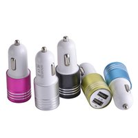 Wholesale alloy port for sale - Group buy Universal Metal A A Aluminium Alloy Dual usb ports Car charger power adapter for iphone for samsung s4 s6 s7 htc mp3 pc gps