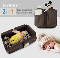 outdoor crib bedding - Portable Baby Bed Crib Outdoor Folding Bed Travelling Baby Diaper Bag Infant Safety Bag Cradles Bed Baby Crib Safety Mommy Bag