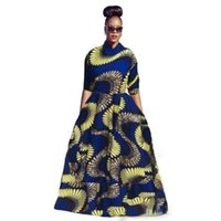 Wholesale Long Print Spring Skirts For Woman - 2017 Spring Printed for African women plus size african clothing Casual Dresses Big Swiming Top And Long Skirts Plus Size Women Clothes