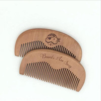 Wholesale Lice Combs Wholesale - 2017 Pocket Wooden Comb Natural peach wood Super Narrow Tooth Wood Combs No Static Lice Pet Beard Comb Hair Styling Tool