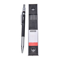Wholesale Mechanical Pencil Lead Refills - Wholesale-1pc Lead Holder Automatic Mechanical Drawing Drafting Pencil 12 Leads Refills 2mm 2B