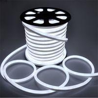 rote neon-led-lichtstreifen großhandel-Umlight1688 50m / lot 80pcs LED / M LED Neonflex rote Farbe weiches Neon light220V / 110V imprägniern flexibles geführtes Streifenseillicht