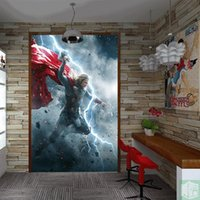 Бесплатная доставка 3D Stereo Custom Movie Themed Mural Marvel Superhero Character Wall Painting Декоративные обои Mural