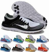 Wholesale Knit Fabrics Cheap - New Free Run 4.0 Knit Men Women Running Shoes, Cheap 4.0 v2 Weaving Lightweight Training Outdoor Sport Sneakers Eur 36-45