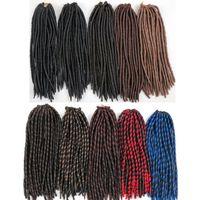 Wholesale bulk wholesale kanekalon braiding hair for sale - Synthetic Crochet Braids hair Faux locs Brading hair Bulk inch Strands Kanekalon Hair Extensions more colors