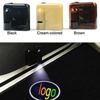 Wholesale Car Emblem Lights - 1 Set Logo emblem For Jeep Wireless Led Car door Door Projector Laser Light LED Welcome