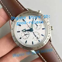 Wholesale Arrow Steel Watch - Top Quality Mens Automatic Chronograph Watch Broad Arrow Valjoux Co Axial Eta 7750 Sport Watches Men 1957 Calf Leather Band Wristwatches
