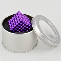 Wholesale Smart Bead Ball - Smart Baby 5mm Cube Magnetic Balls 216pcs set N35 Magic Beads Cube Toy Puzzle Magnet Ball Bloc