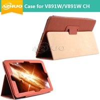Wholesale Cover For Quad - Wholesale-High quality Leather Case Stand Cover for 8.9 inch Onda V891W Quad Core  V891W CH V891W Dual Boot Tablet + Free GIFT