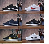 Wholesale Us8 Female Male - hot sell! 2017 classic yin and yang male and female spring autumn casual racer Cortez Shoes Leisure Nets Shoes size 40-45