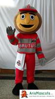 fazer mascote venda por atacado-Ohio State Buckeyes Brutus traje da mascote Mascotes de esportes disfarce mascotte custom made mascotes trajes extravagantes trajes carnaval vestido de festa