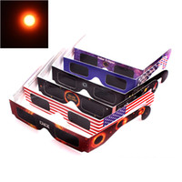 Wholesale 2017 USA Solar Eclipse Glasses Paper Solar Glass Viewing Eyeglasses Protect Your Eyes Safe when th August DHL Free Fast Shipping