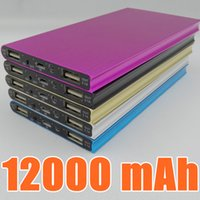 2017 Ultra fino 12000mAh Power Bank Bateria Segurança USB Carregador Emergência para celular iphone Android celulares carregadores Book Power Bank I-YD