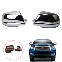 Wholesale Side Door Mirror Covers - 1 Pair Rearview Mirror Shell Cover Door Side Protection Housing Case For Toyota Tundra 2007-2013 Sequoia 2008-2014