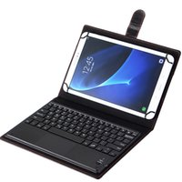 Wholesale 9.6 android tablet for sale - Group buy Hot Sale Wireless Bluetooth Keyboard Leather Case Removable With Touch Panel for Tablet PC Apple Android quot Inch Support System