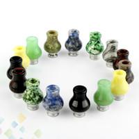 natürliche jade höchste qualität großhandel-Natürliche Jade Vase Tropfspitze 510 EGO Kürbis Tropfspitzen mit Edelstahl-Breitbohrzerstäubern Mundstücken Hohe Qualität Dhl-frei