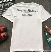 Wholesale Open Box Sales - High quality sup t-shirt white sup Paris opening box logo tee original logo tag pack bag women men's t shirt top sale wholesale