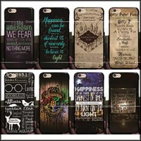Compra Iphone Harry Potter-2017 moda Harry Potter Marauders duro PC caso para iphone 7 / 7p / 6 6S / Plus 5 5S SE Hogwarts mapa palabras plástico contraportada piel Shell