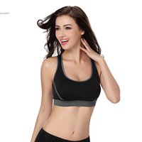 Wholesale Womens Yoga Tanks - New womens tops sexy sports longer Jogging Blockout Bra Vest Gym Wear Fitness Crop Top Yoga Exercise clothes