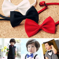 Wholesale Boys Silver Bow Tie - Free Shipping baby bows kids' neck tie boys' ties children's ties bowties bowtie baby Children's Accessories