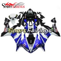 Wholesale Yzf Cowling - Blue White Black Fairings For Yamaha YZF1000 R1 Year 2004 - 2006 04 05 06 ABS Plastics Full Fairing Kit Injection Hulls Bodywork Cowling New