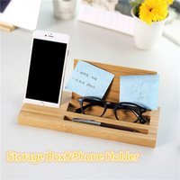 Wholesale Cell Phone Storage Boxes - Premium Bamboo Wooden Cell Phone Holders Convenient Storage Box Wholesale Phone Stander Station with high quality