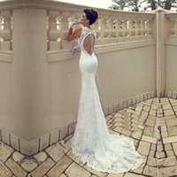 Wholesale Trumpet Mermaid Wedding Dresses Photo - Free Shipping!Mermaid Lace Wedding Dress 2016 Vestidos De Novia Baratos Sexy Backless Wedding Dresses Backless