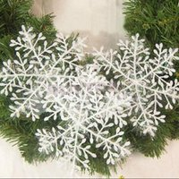 Wholesale White Snowflake Tree Ornaments - 15Pcs (5 bags) White Snowflake Ornaments Christmas Holiday Festival Party Home Decor New Year Gift