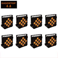 Wholesale Rgbwa Flat Par - TIPTOP 8pcs lot Led Magic Light RGBWA Flat Par Light 9x15W 5in1 Leds for Club DJ Disco Stage Party DMX 5 9CH Control CE ROHS TP-G3039-5IN1